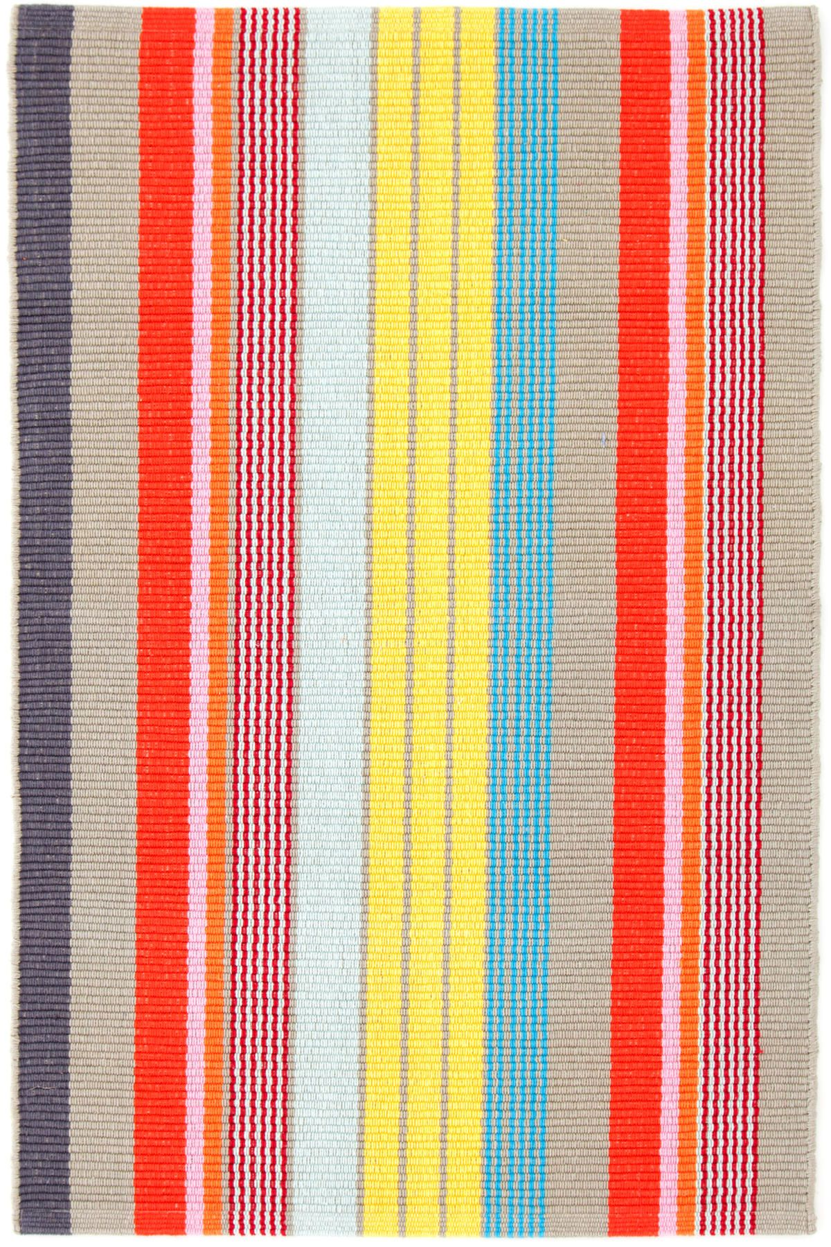 Lyric Stripe Woven Cotton Rug The Outlet In 2019