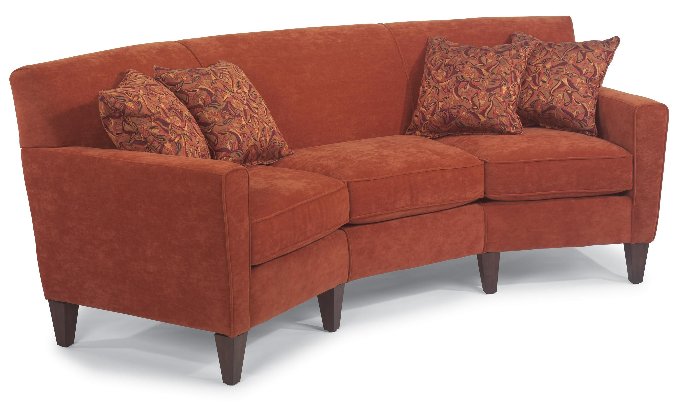 This in leather flexsteel digby contemporary conversation for Conversation sofa