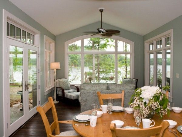 sunroom paint colorssunroom interior colors  Paint window trims white to brighten up