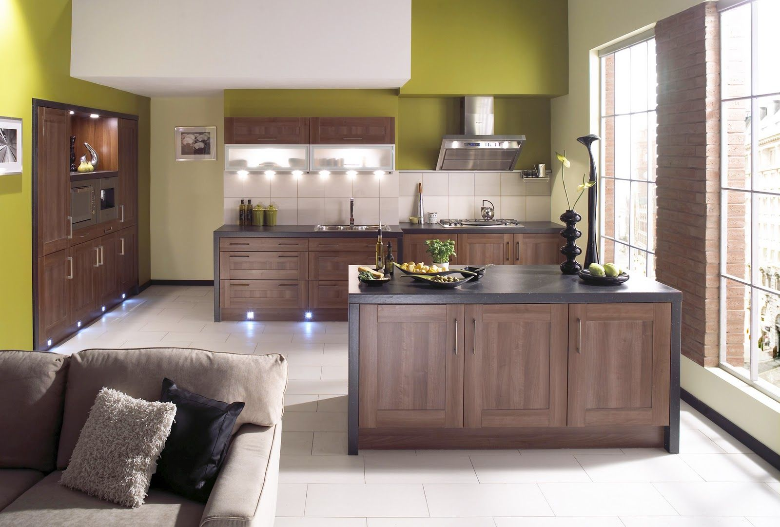 Green And Brown Kitchen Ideas Part - 15: Here You Will Find 40 Stupendous Kitchen Island Ideas That Absolutely Rock.  From Modern To Traditional, Minimalist Designs, But Also Some Rich In Color  And ...