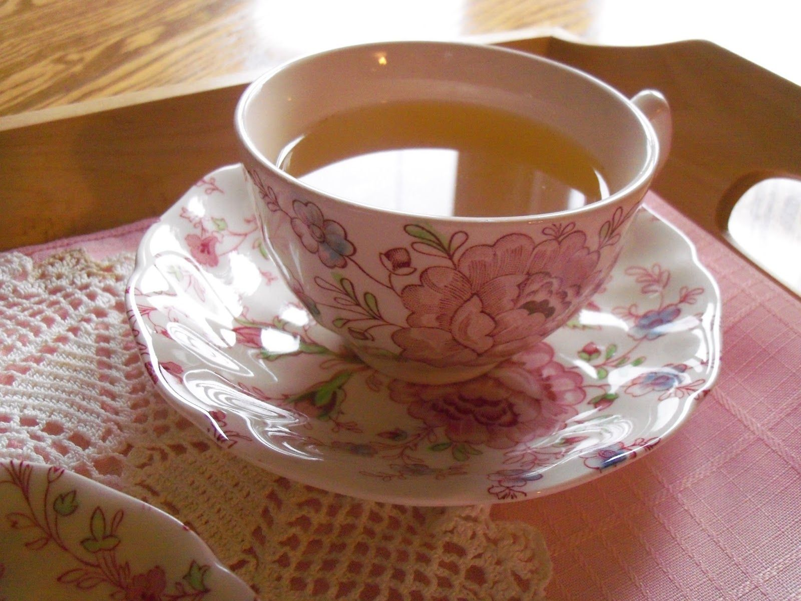 Tea at my house,  'Rose Chintz' by Johnson Brothers