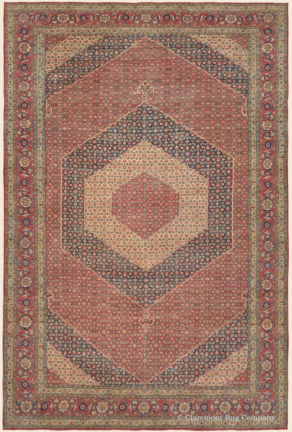 Hadji Jallili Haji Jalili Tabriz 12 8 X 19 1 Late 19th Century Northwest Persian Antique Rug Clarem Claremont Rug Company Persian Carpet Tabriz Rug