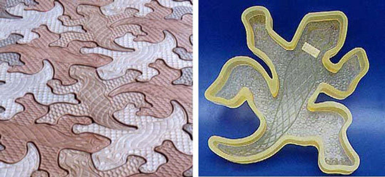 GeckoStone Tessellating Concrete Paver Molds Concrete