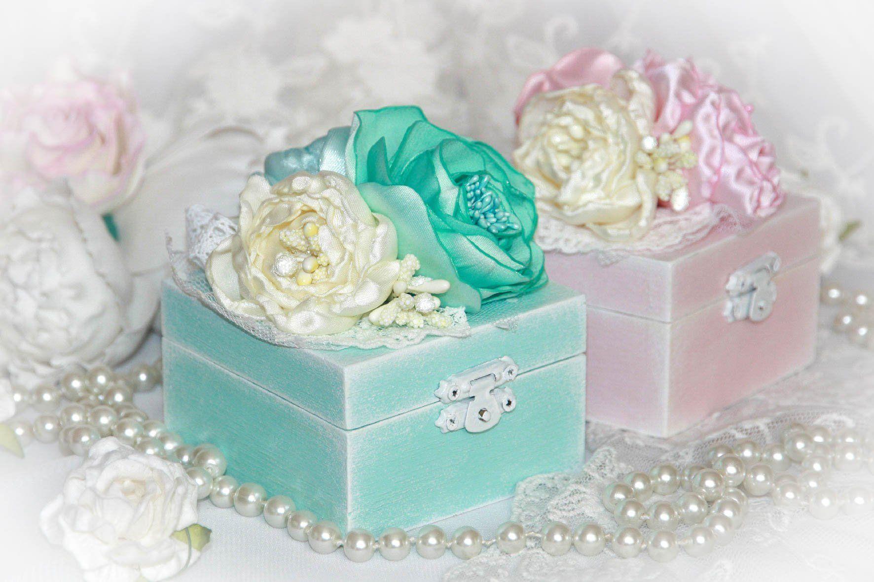 Wooden engagement ring box, Ring bearer box, Tiffany