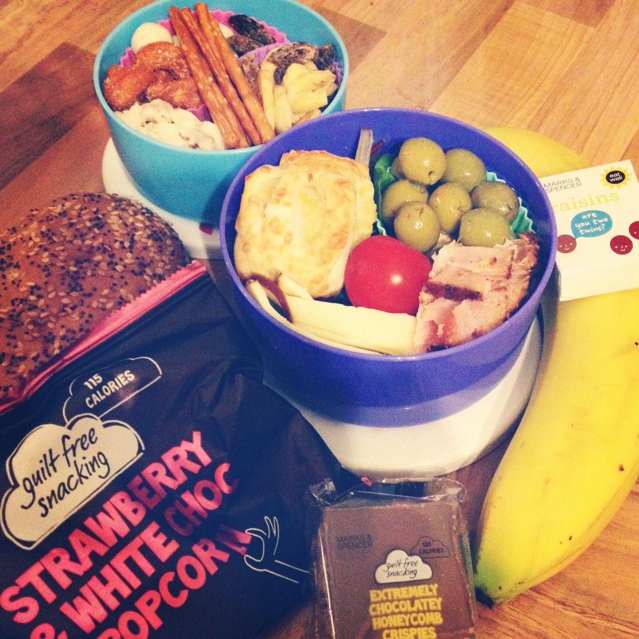 Mondays lunch box yummy food raisin