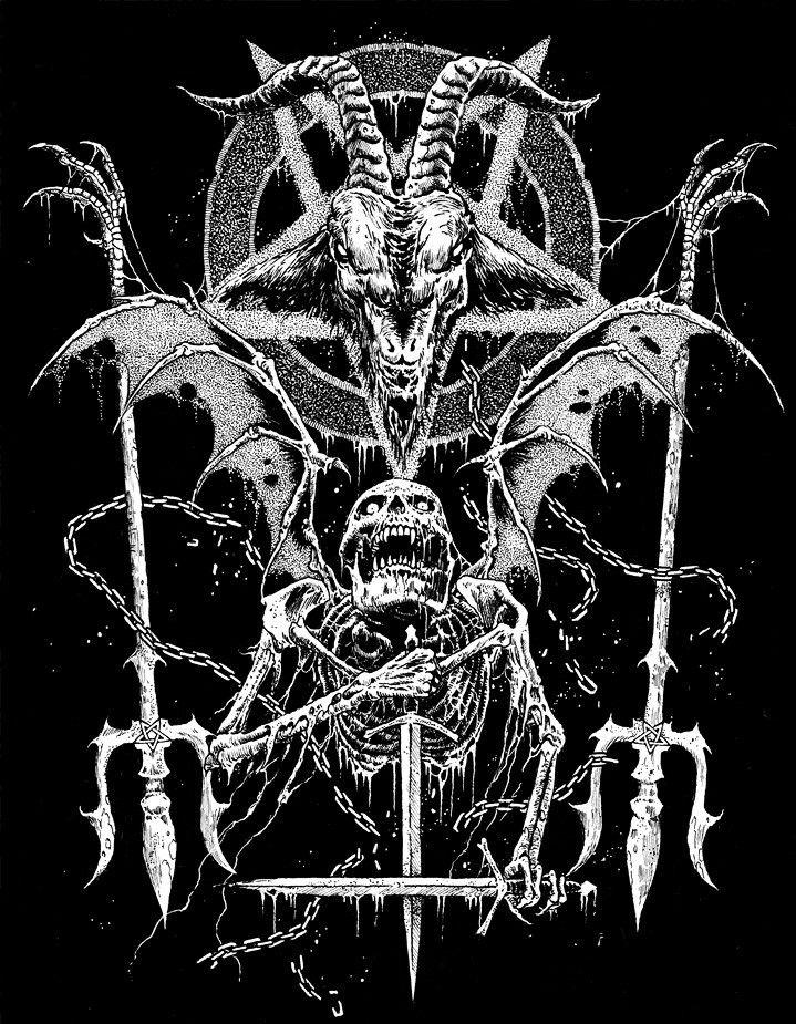 by Mark Riddick | Satanic art, Dark art drawings, Horror art