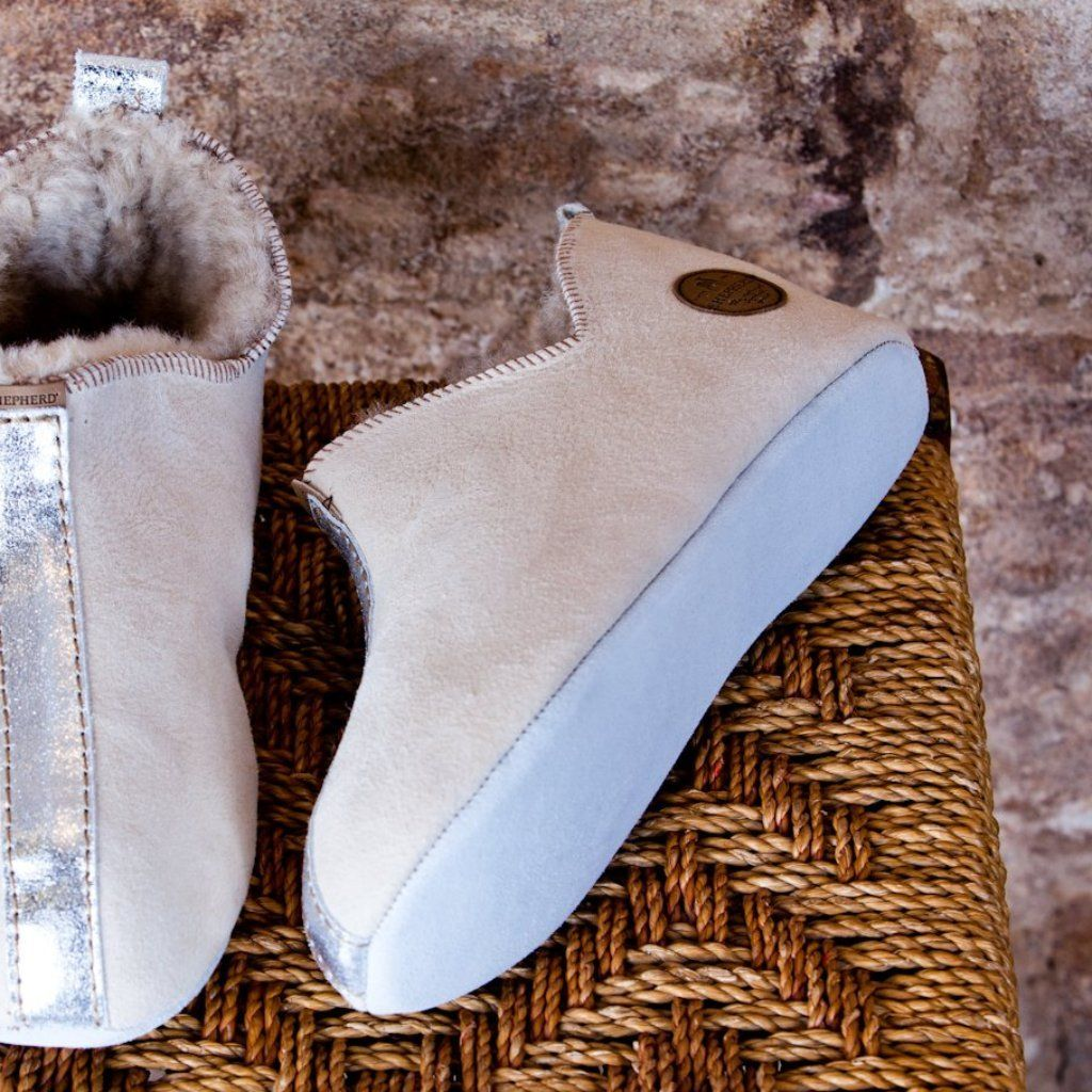 Ladies Sheepskin Slippers with Soft