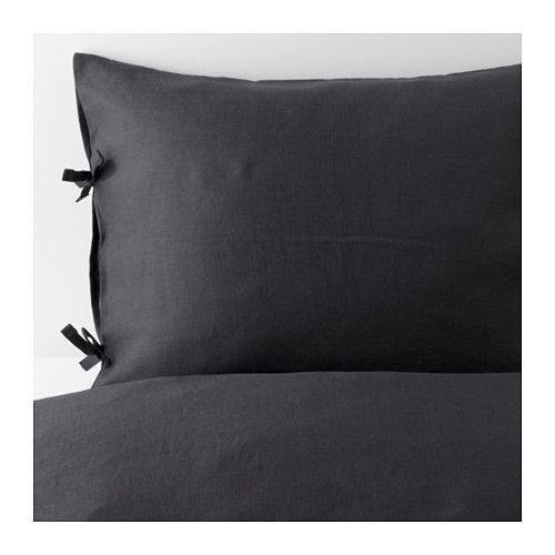 puderviva duvet cover and pillowcase s dark gray pinterest couettes gris fonc et gris. Black Bedroom Furniture Sets. Home Design Ideas