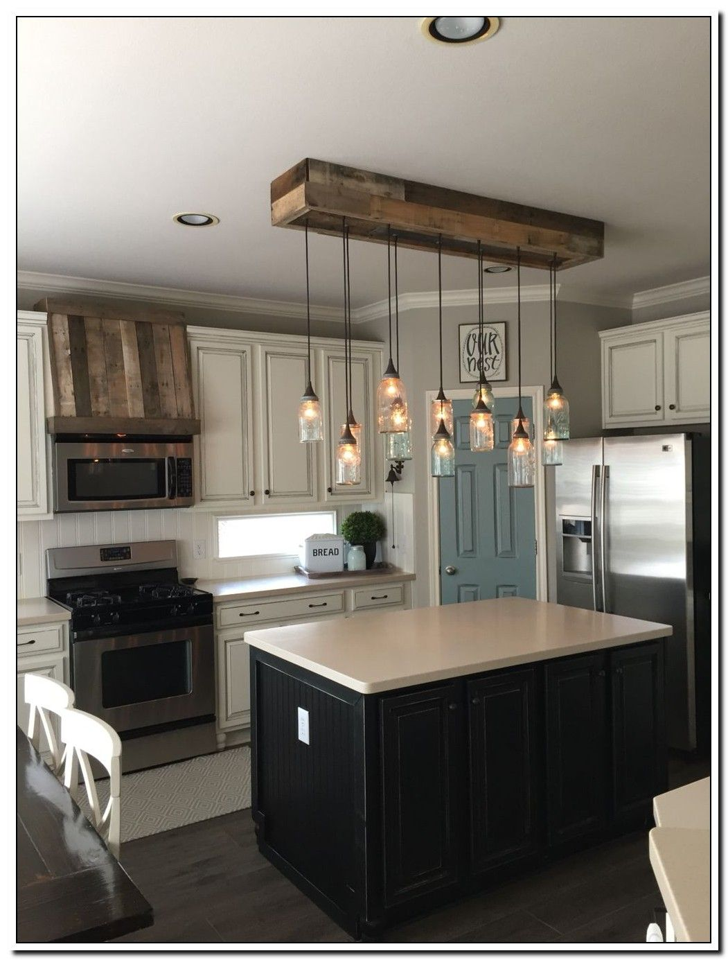 71 Reference Of Kitchen Farmhouse Island Pendant Lights In 2020 Farmhouse Kitchen Lighting Farmhouse Kitchen Colors Rustic Kitchen
