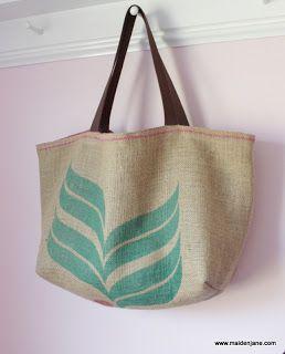Maiden Jane Upcycled Coffee Sack Bags Sack Bag Coffee Sacks Bags