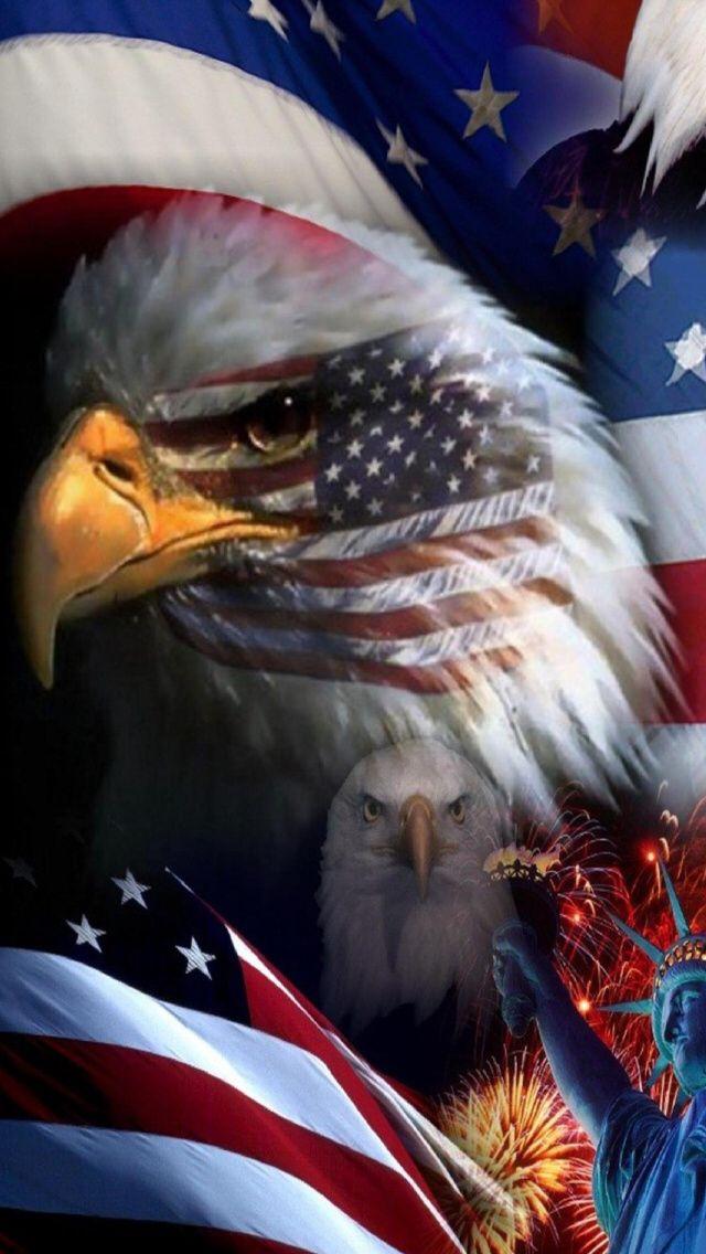 Pin By Alicia Ott On Cool Pics Eagle Wallpaper Usa Flag American
