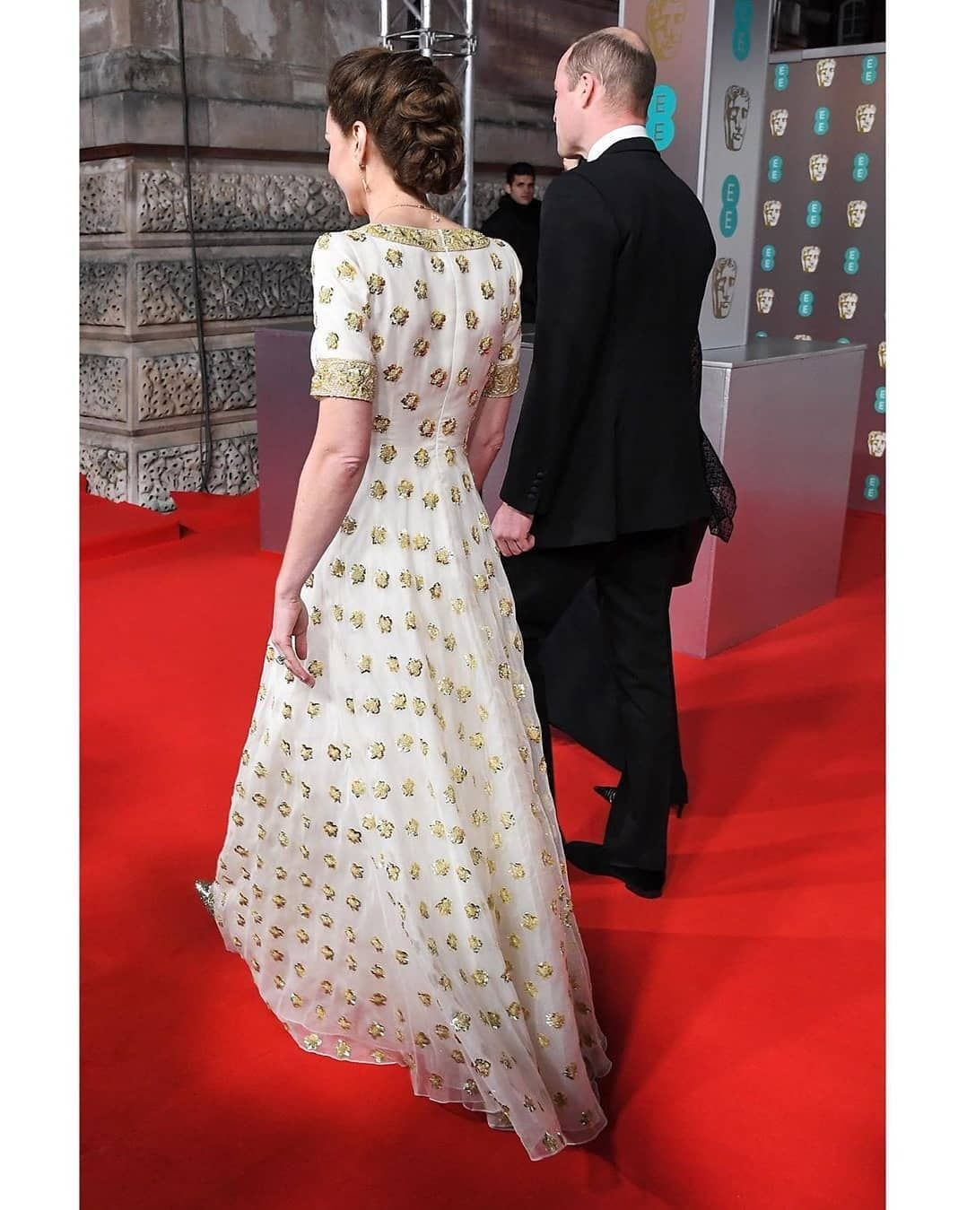 The British Royal Family On Instagram The Duke And Duchess Of Cambridge Have Arrived At The Ee In 2020 Bafta Red Carpet Prince William And Kate Kate Middleton Style