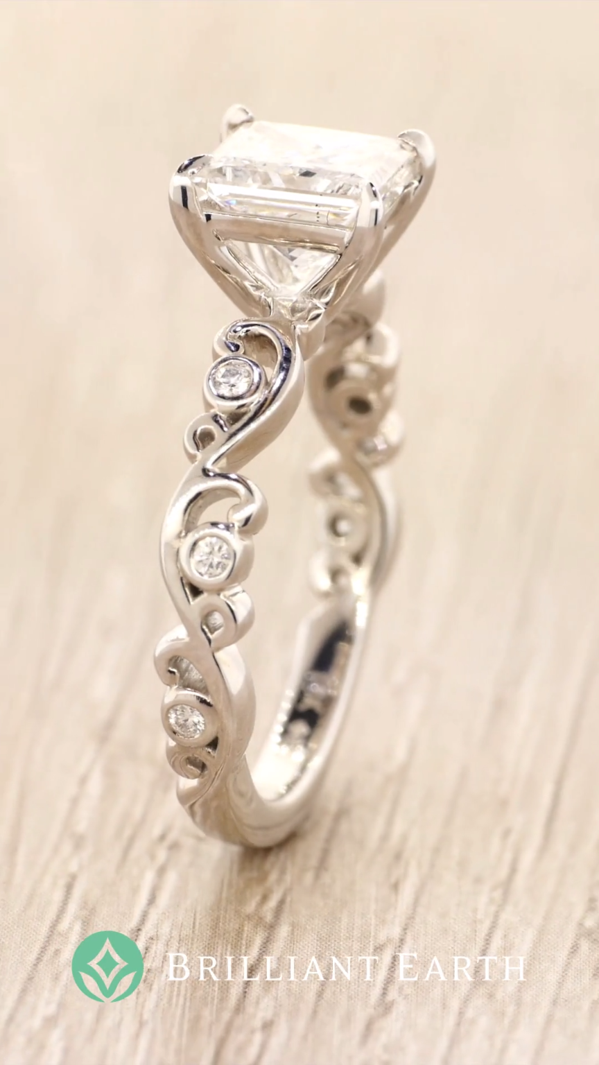 2522537ca12 Explore our collection of diamond engagement rings featuring wispy vines