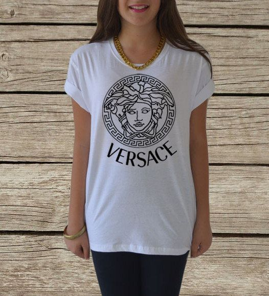 Versace T Shirt Women Men Medusa Inspired Top Size Xs Xxl