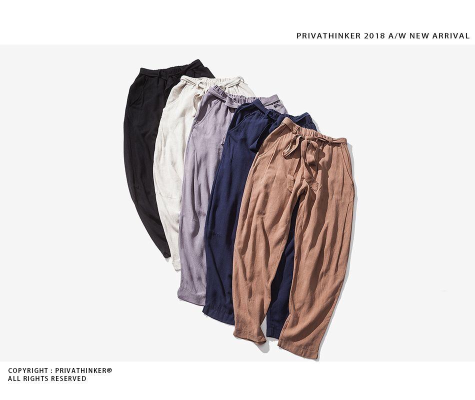 86c2962db51 Sinicism Store Size Plus 5XL Cotton Linen Harem Pants Men Belt Jogger Pants  Male Trousers Chinese Traditional Cloths % - linen clothing store