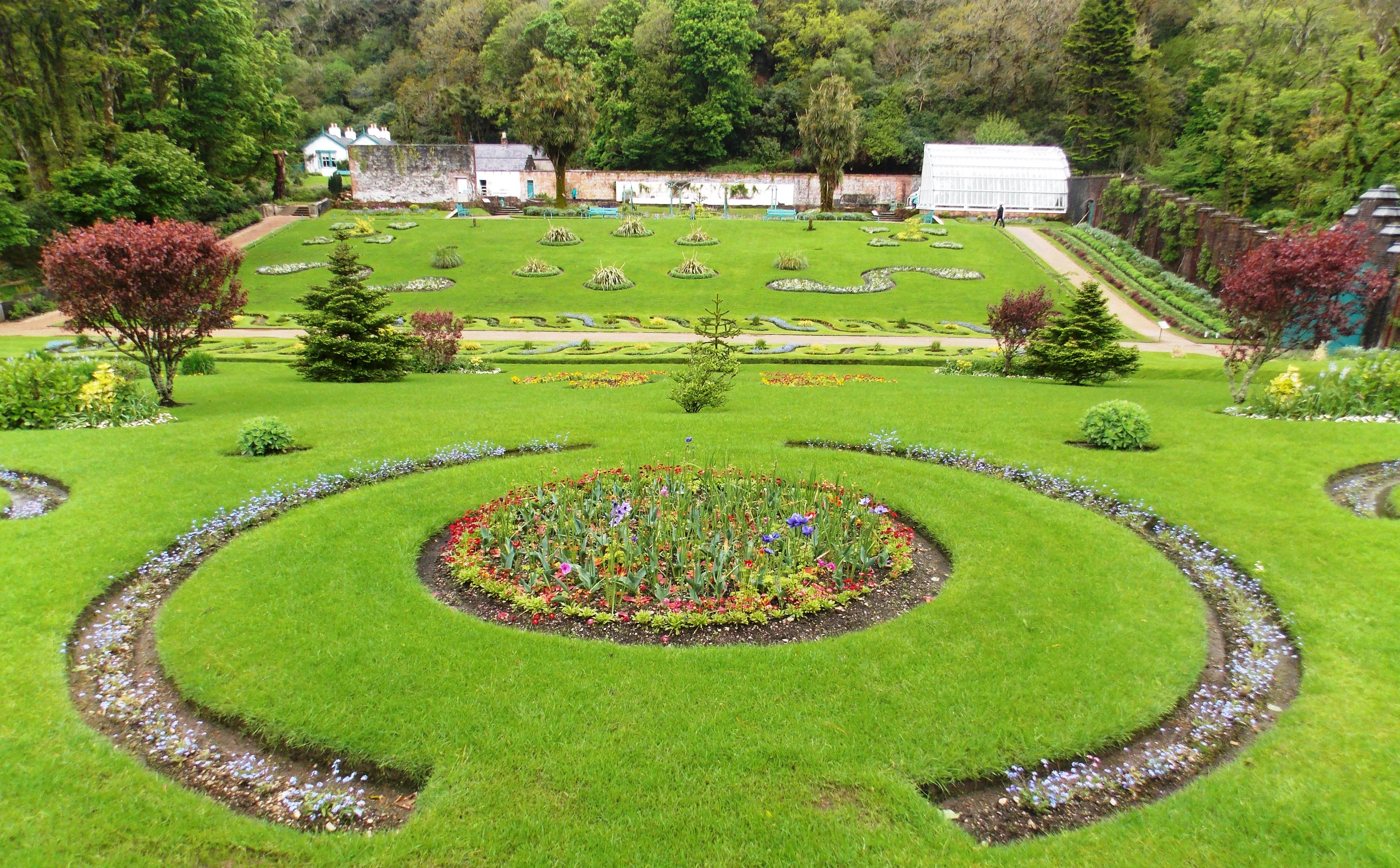 Gardens at Kylemore Abbey, Connemara, Ireland | Landscape ...