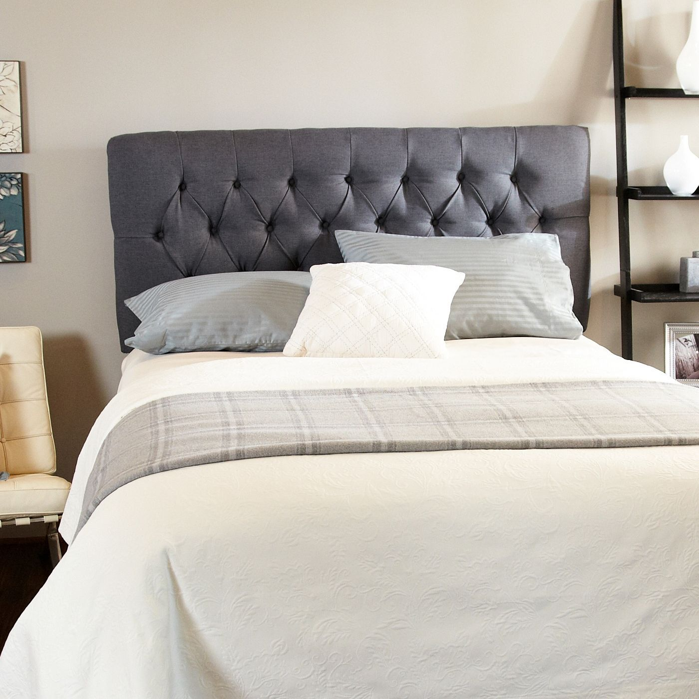 upgrade your bedroom decor with this stylish queen sized headboard
