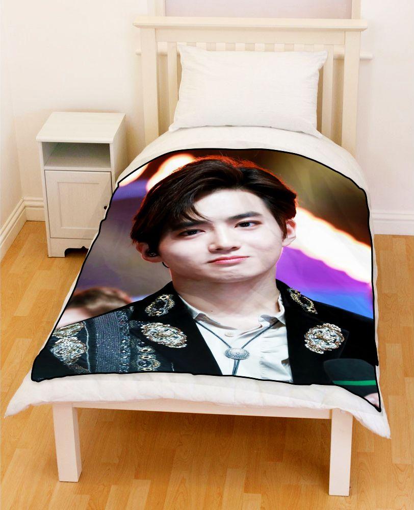 Exo Suho Cute Smile Bedding Throw Fleece Blanket Suho Exo Fleece Blanket Suho