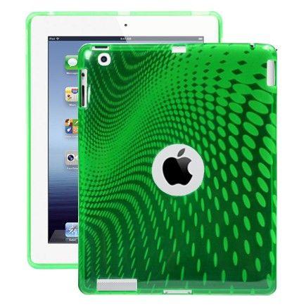 Electron Wave (Vihreä) iPad 3 & 4 Silikonisuojus