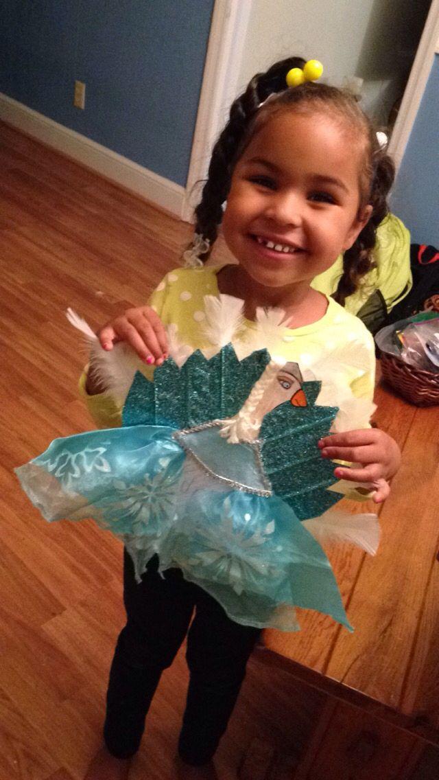 Elsa turkey disguise #disguiseaturkeyideas