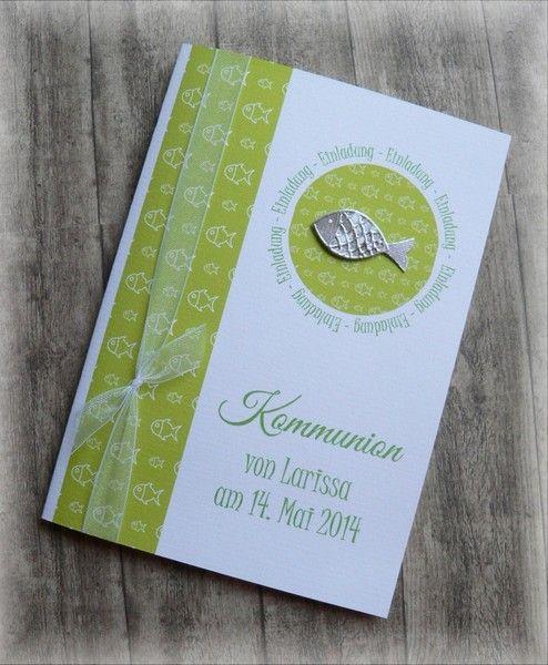 Einladung Einladungskarte Kommunion Konfirmation Von CARD YA Kreatives Aus  Papier Auf DaWanda.com