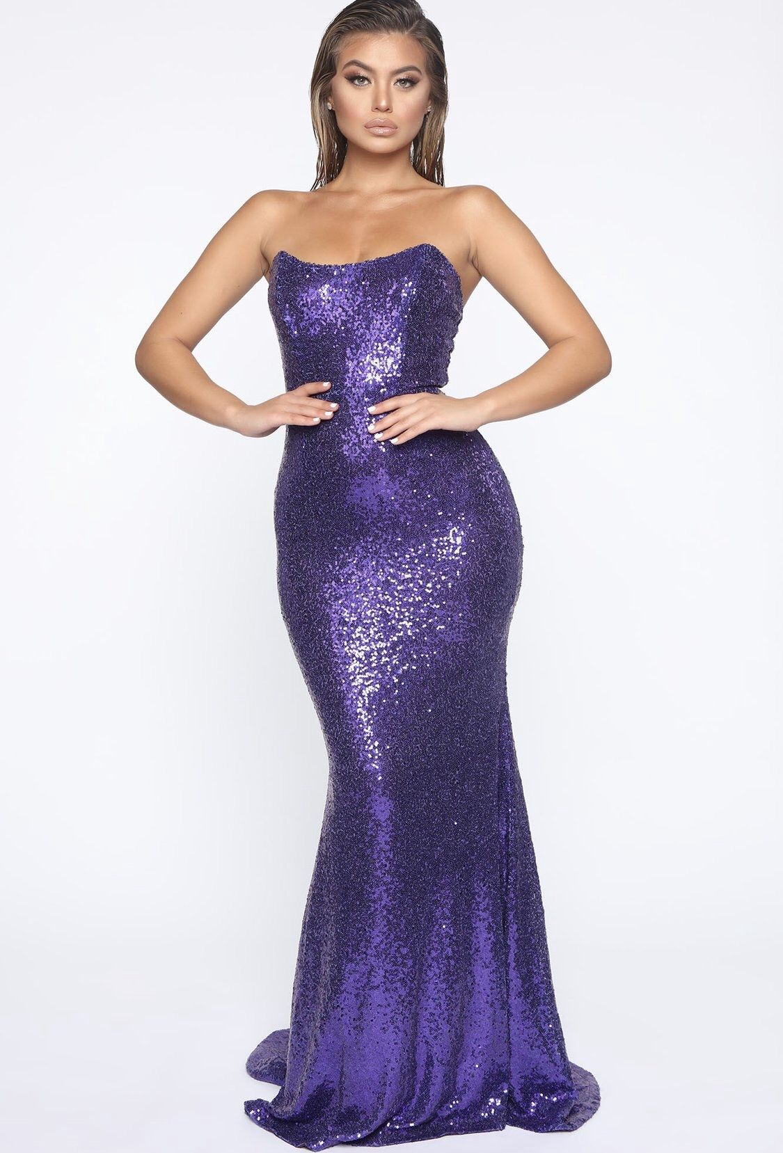 Like a star mermaid gown purple in 2020 sparkly