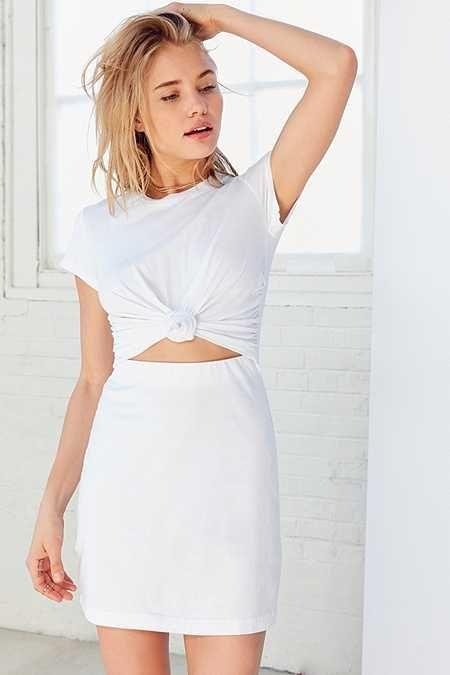 7d3991b6 Silence + Noise Knotted T-Shirt Dress | Steeze | Dresses, Mini shirt ...