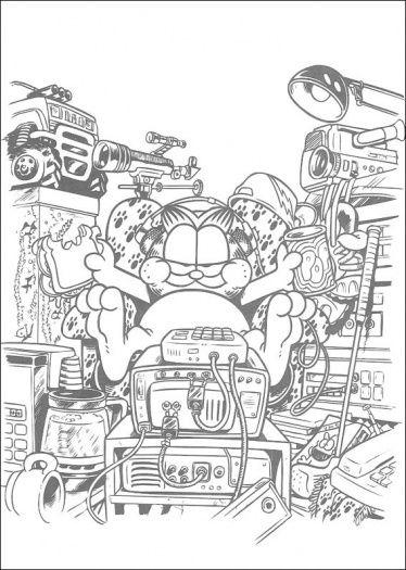 printable garfield coloring pages | Kotitalous S3 | Pinterest ...