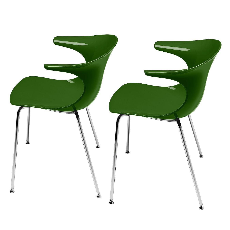 Schalenstuhl Loop (2er-Set) - Grün, Infiniti Jetzt bestellen unter ...