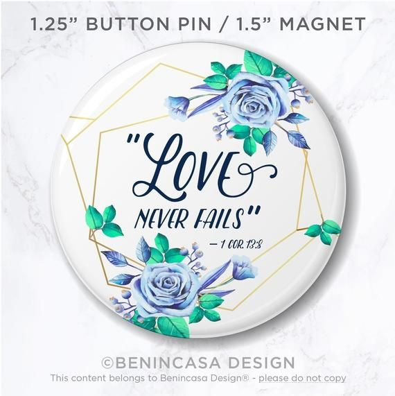 50 Lapel Pins - Love Never Fails - International Convention