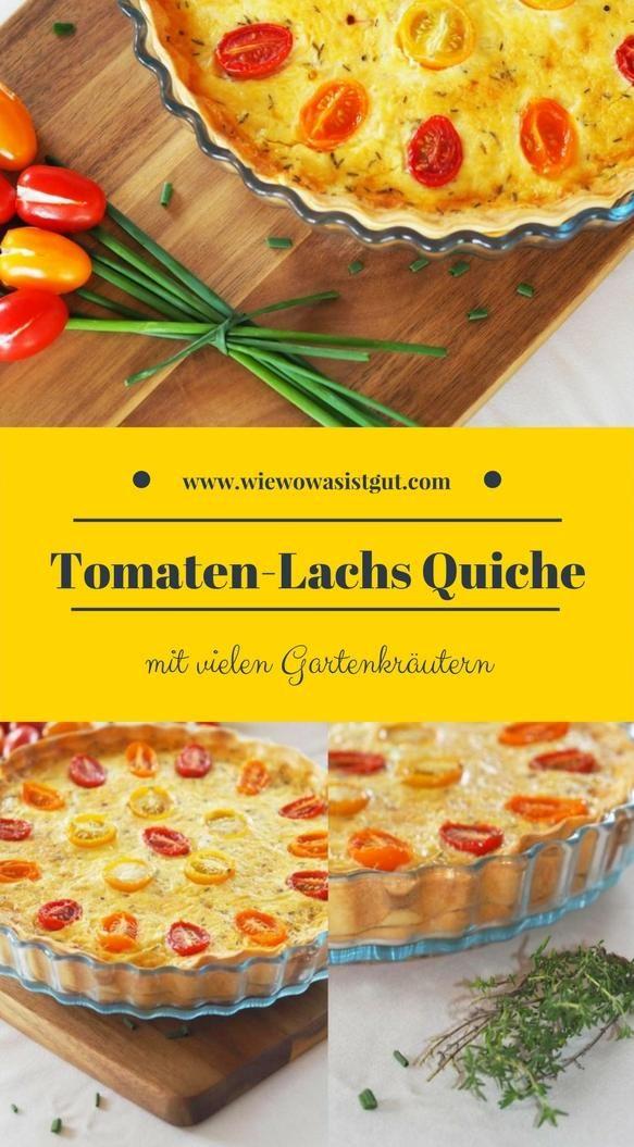 tomaten lachs quiche mit ganz vielen gartenkr utern rezept blogger summer vibes. Black Bedroom Furniture Sets. Home Design Ideas