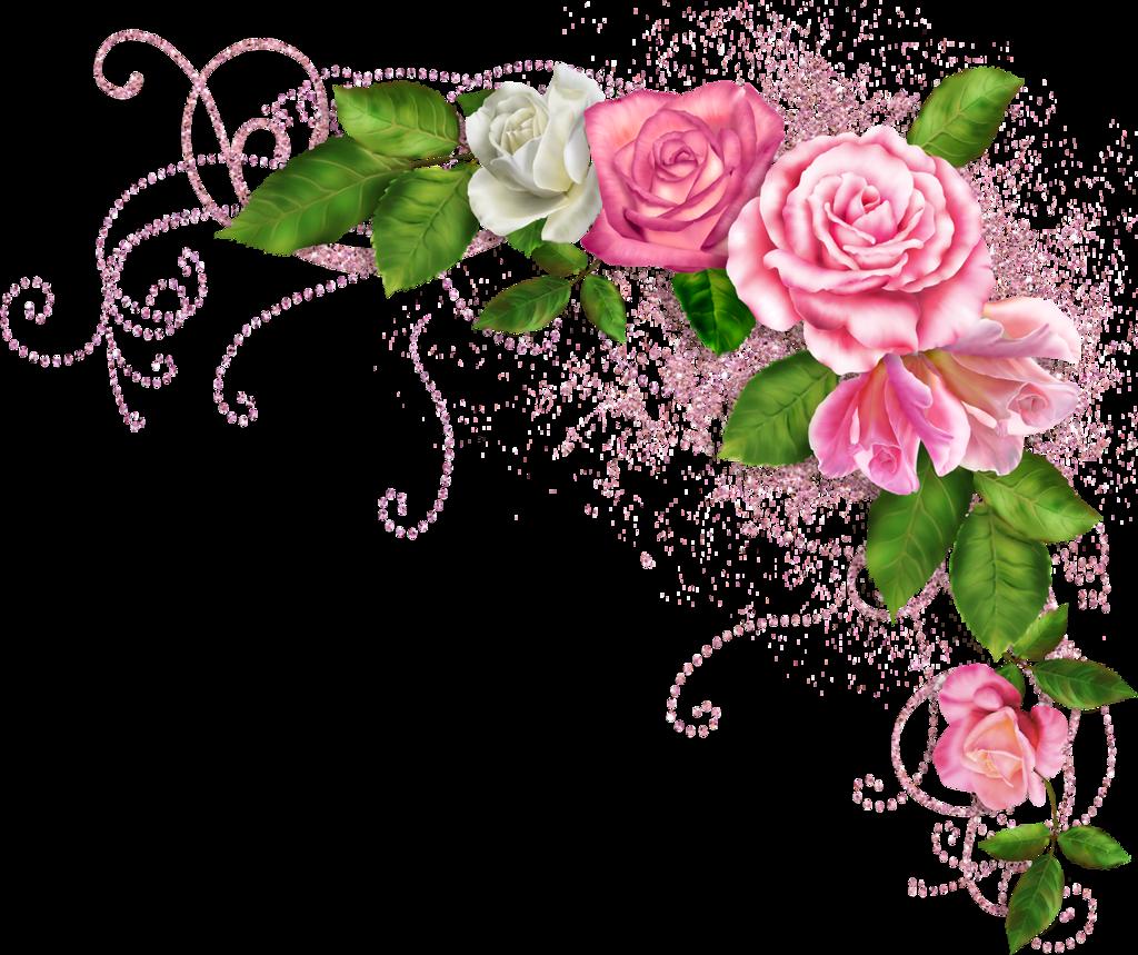 Угловые цветы на открытку, бабушке внучки