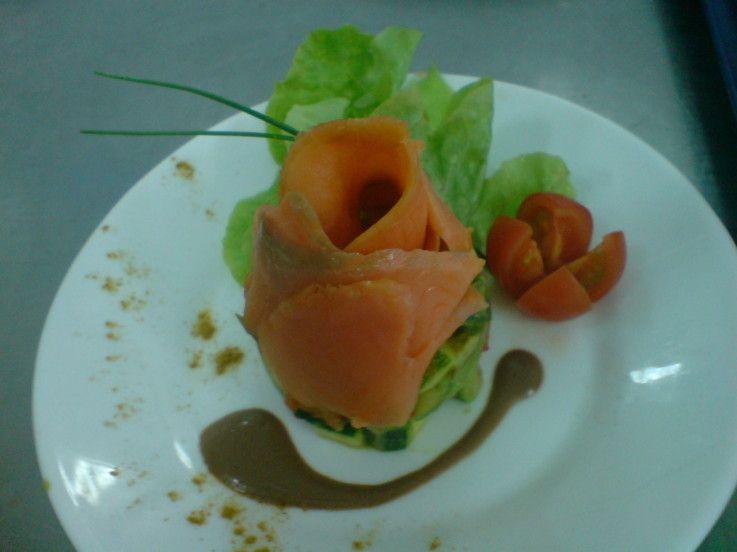 timbal de verduras cocidas y salmón ahumado - Tvcocina . Recetas de Cocina Gourmet Restaurantes Vinos Vídeos