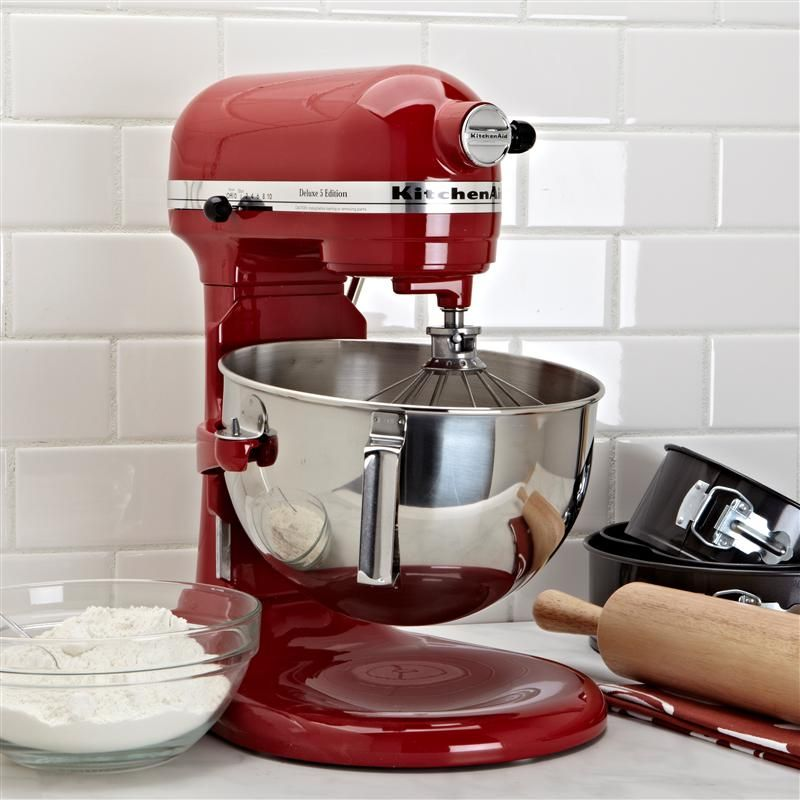 Dc Kitchen Supply: Kitchenaid Deluxe Stand Mixer 5 Qt. Red