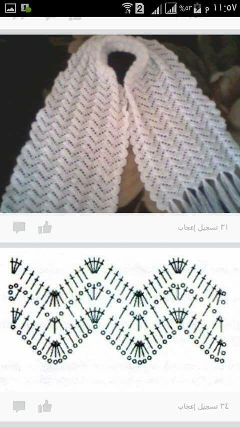 Pin de Lizette Montalvo Flores en Crochet Puntos fantasía ...