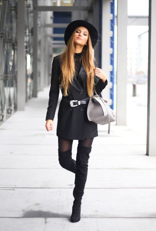 04df8e069e8 The Thigh High Boots Outfit  35 Ways To Wear Thigh-High Boots - Just The  Design