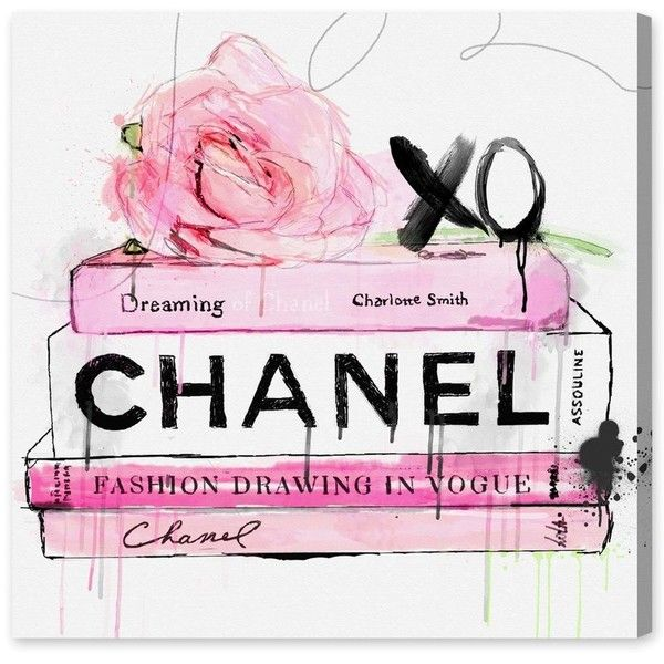 dripping roses and chanel canvas print oliver gal liked. Black Bedroom Furniture Sets. Home Design Ideas
