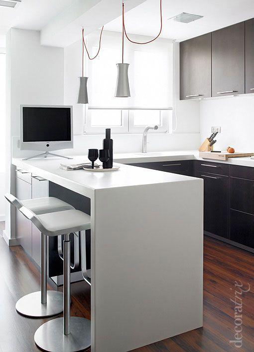 peninsula-cocina-decoratrix | casa | Pinterest | Cocinas, Cocina ...