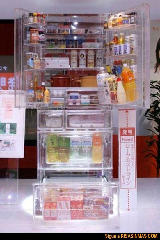 El Frigorífico Que Querrás Tener Risa Sin Más See Through Refrigerator Refrigerator Cool Stuff