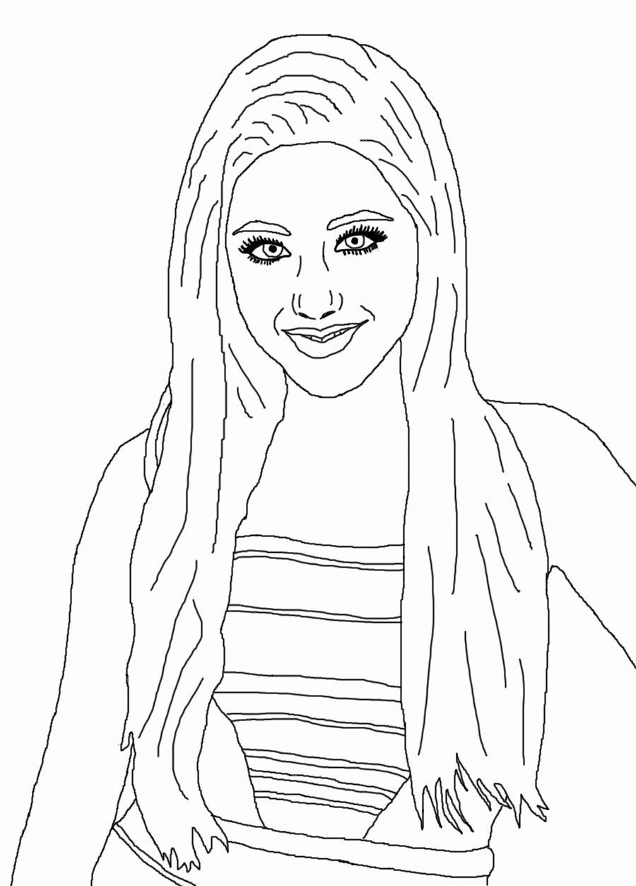 Ariana Grande Coloring Pages Coloring Home Coloring