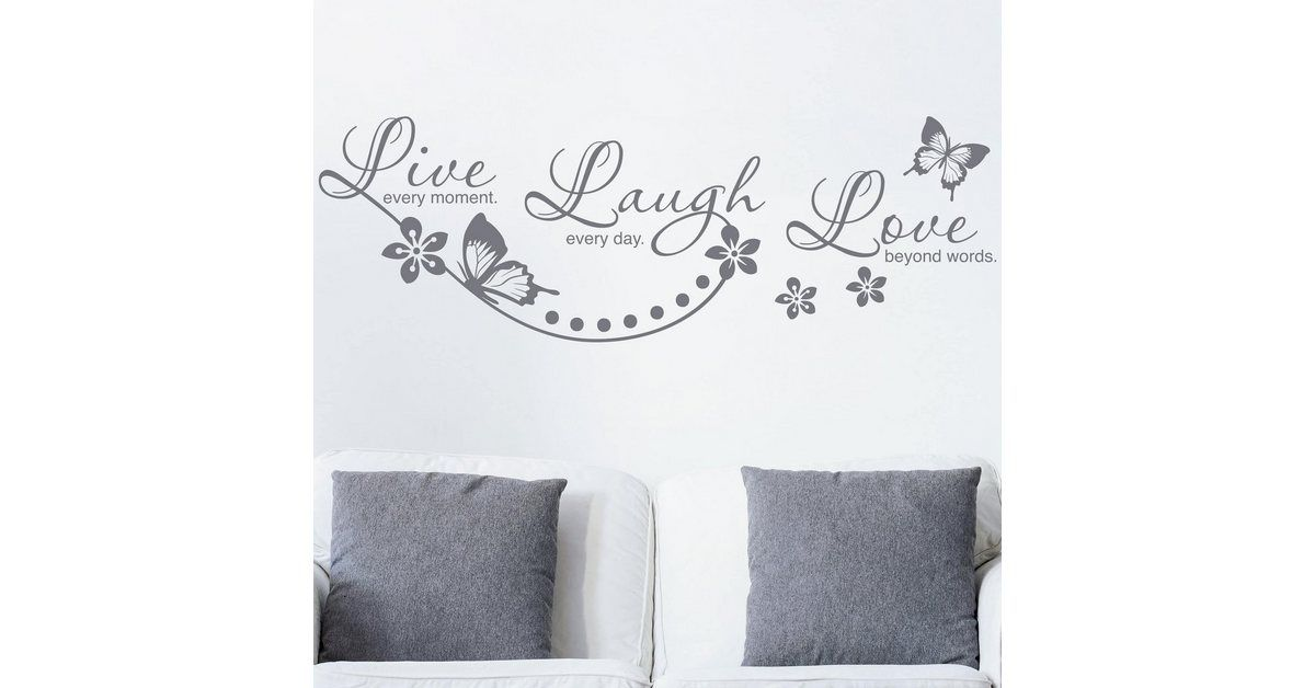 Photo of Buy Worlds of Images wall sticker »Live Laugh Love« OTTO