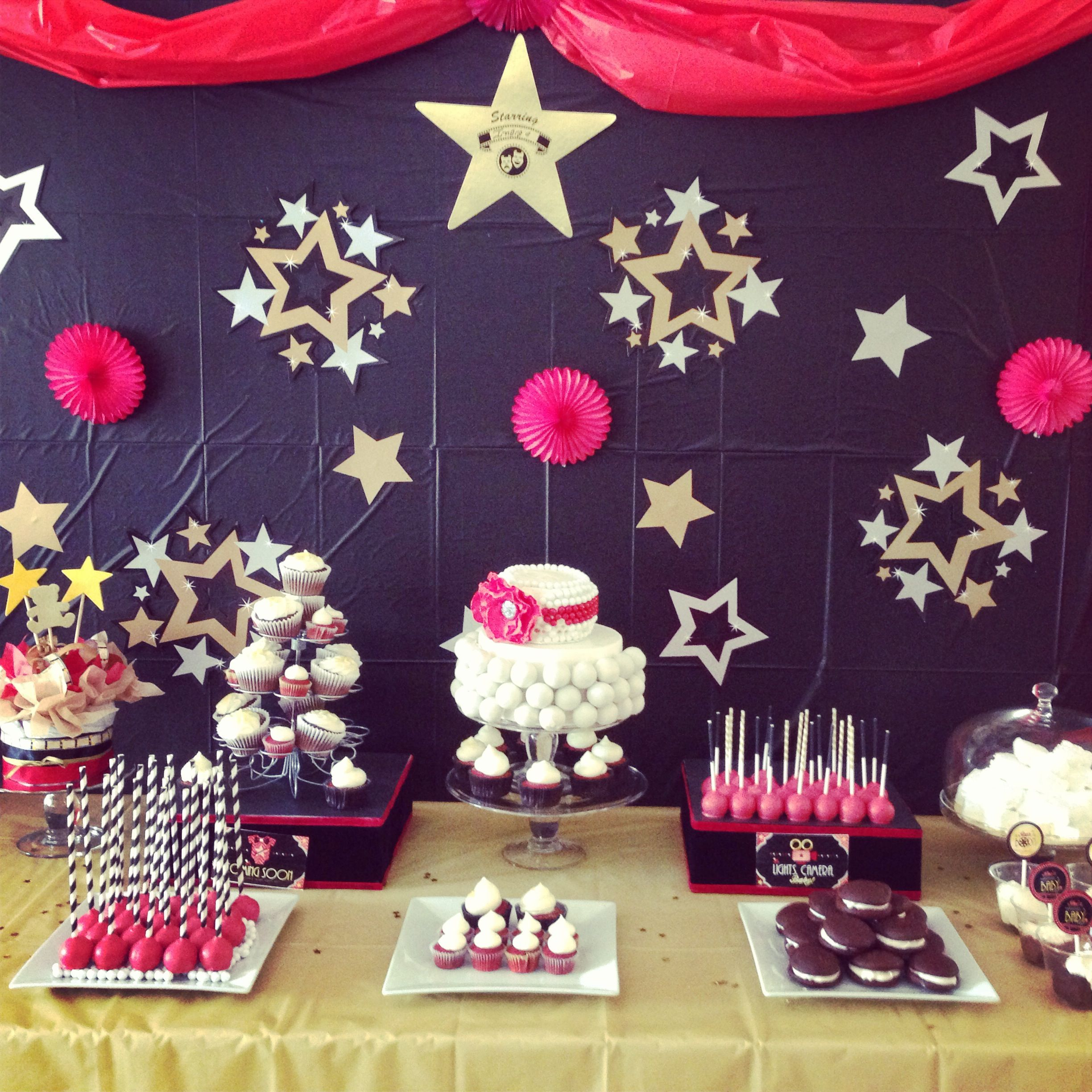 A star is born baby shower theme sweet table inspired by ...