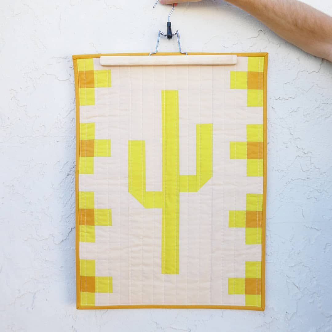 I\'m finishing up wall hangings today and loving this saguaro cactus ...