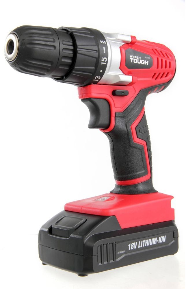 New Hyper Tough 18V Lithium-Ion Cordless Drill Driver Power Speed Tool  Workshop  HyperTough 02503d5cfb