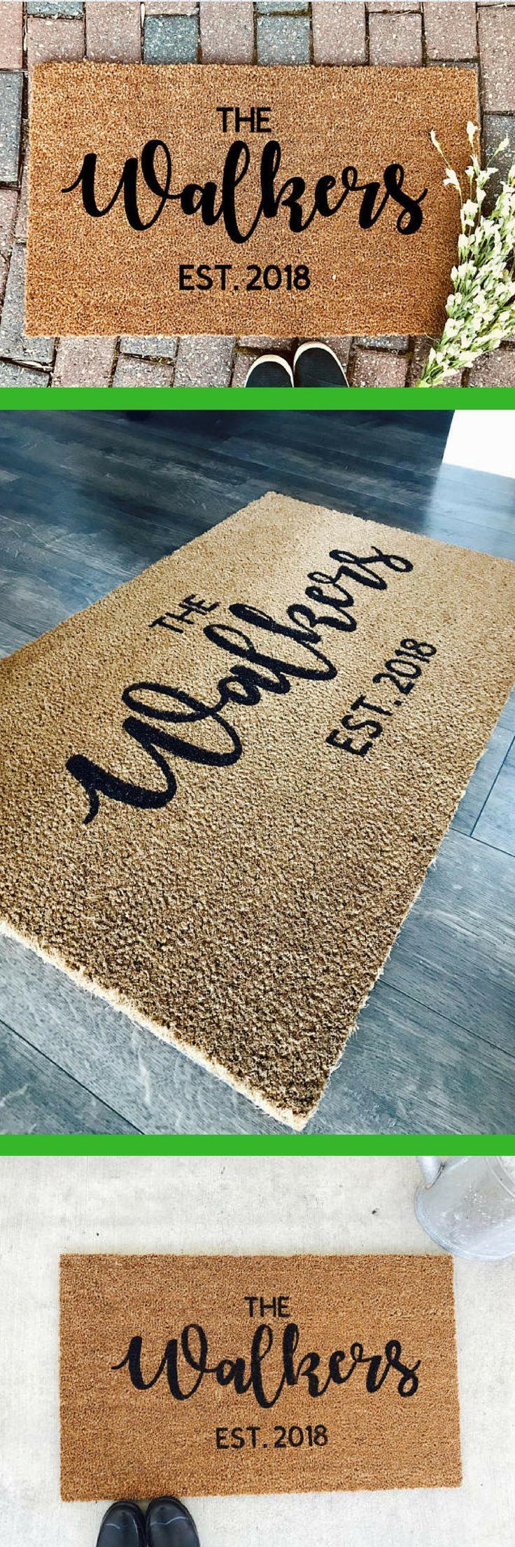 mat welcome painted door hand doormat customized personalized custom mats pin