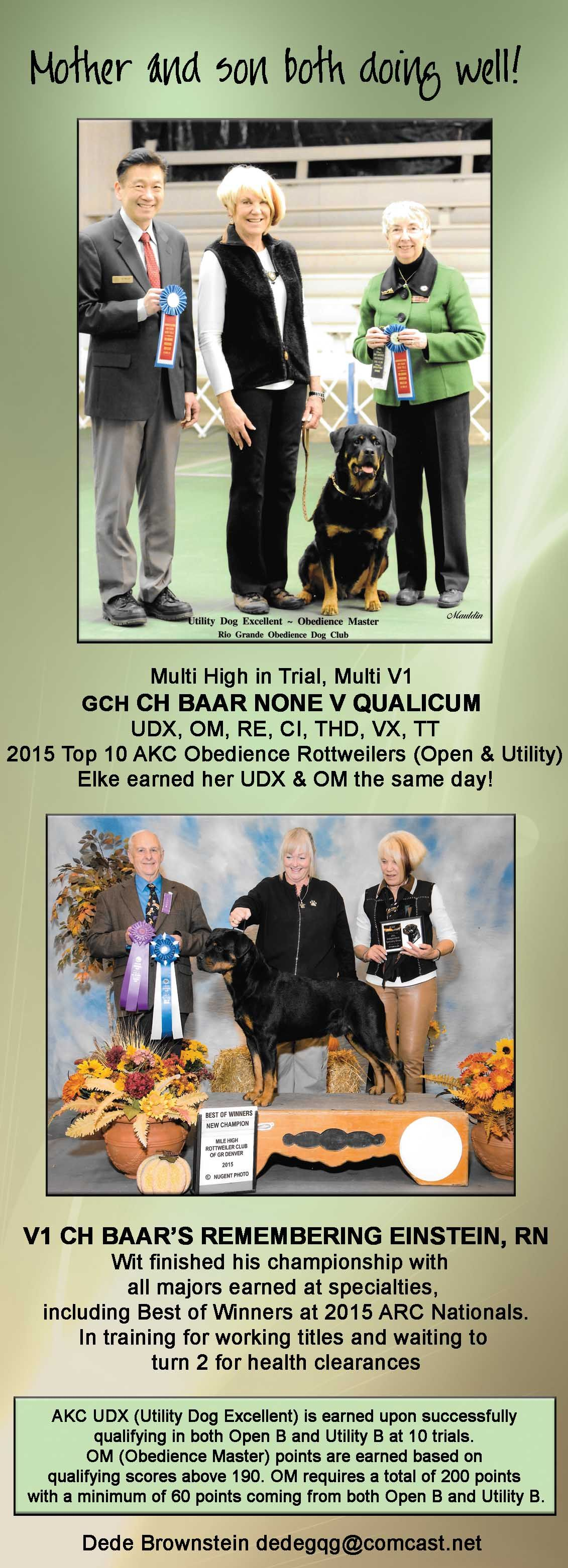 Elke Earned Her Udx Om The Same Day Multi High In Akc Trial