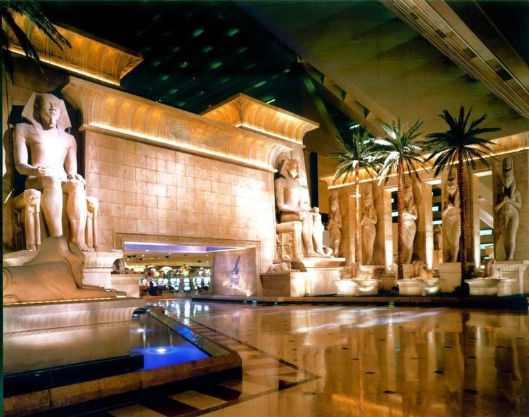 The Hotel Lobby Is Inside Giant Pyramid At Luxor Vegas