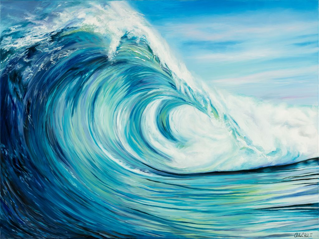 Spring Summer Art Archives Andrea Kirk Art Wave Art Painting Ocean Art Painting Ocean Waves Art