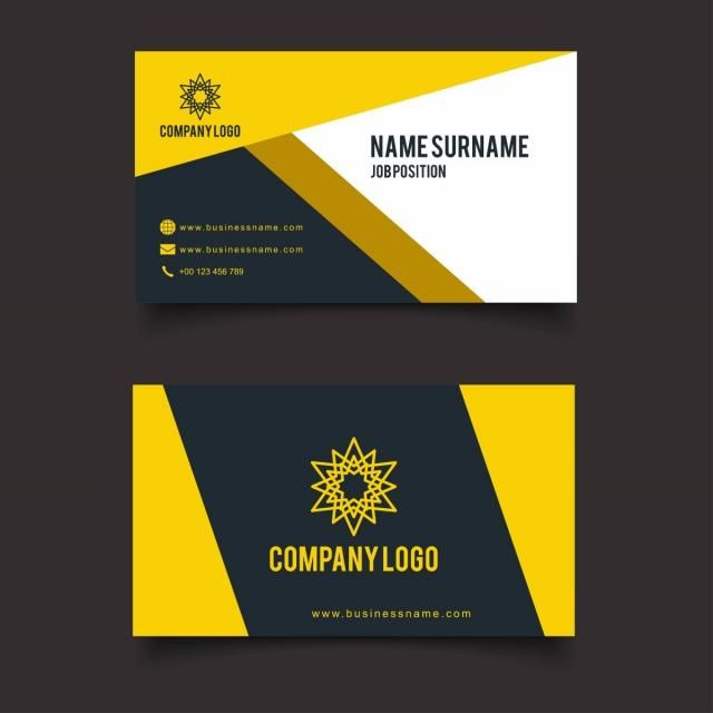 Card Business Design Icon Name Vector Modern Corporate