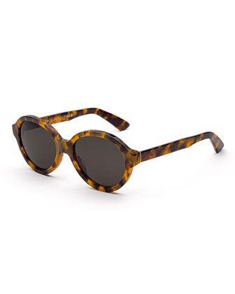 beb0193df29 Yoma+Round+Acetate+Sunglasses